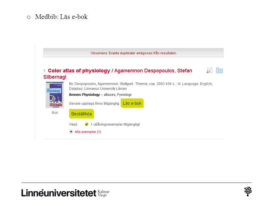 o Medbib: Läs e-bok