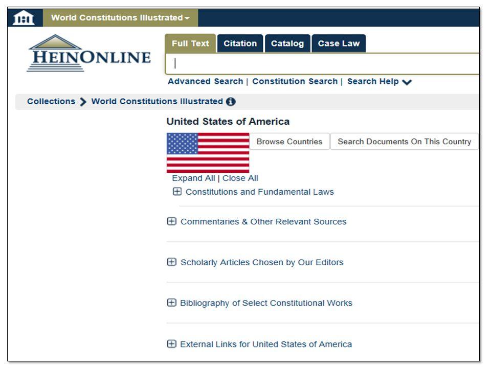 Komparativ aspekt? Böcker som jämför olika länder i hylla 342 Ämnesguiden – Utländsk rätt HeinOnline – World Constitutions Illustrated