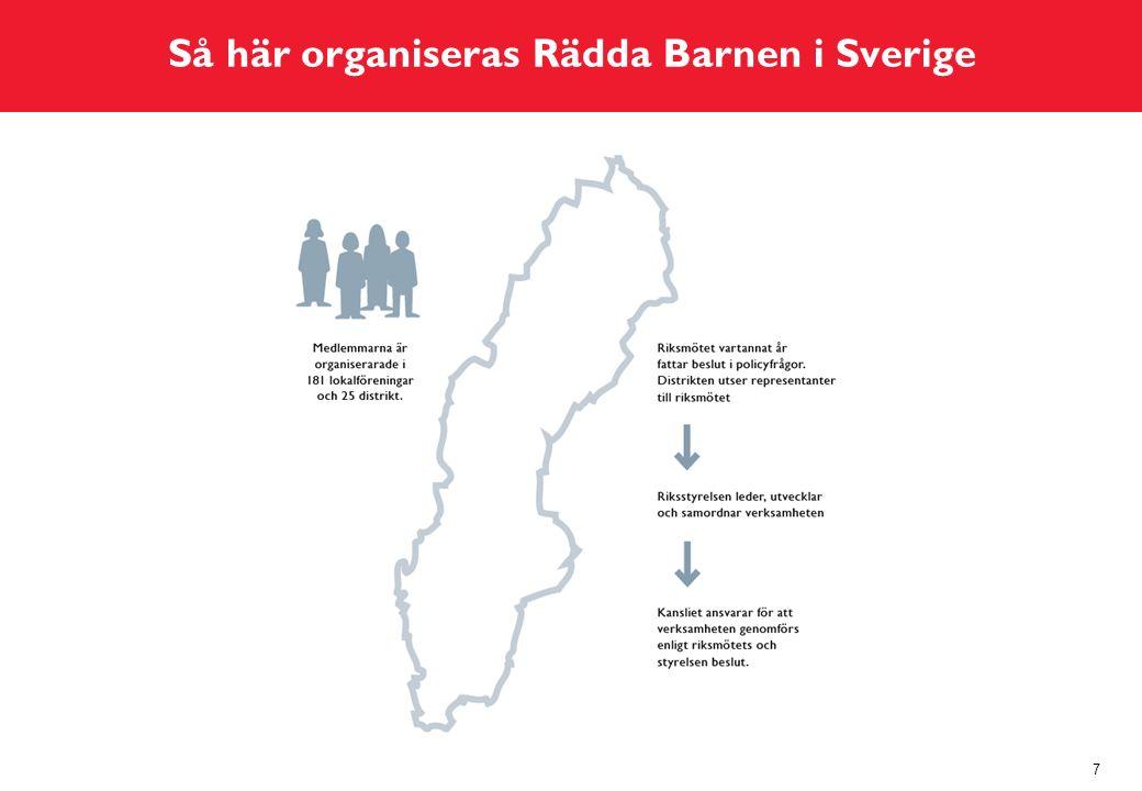 Så här organiseras Rädda Barnen i Sverige 7
