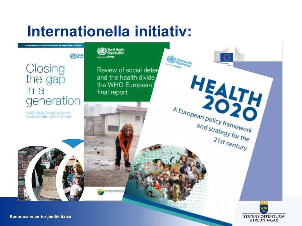 Kommissionen för jämlik hälsa Internationella initiativ: