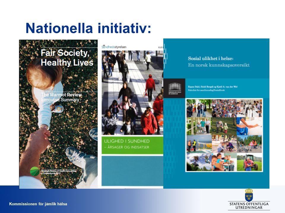 Kommissionen för jämlik hälsa Nationella initiativ: