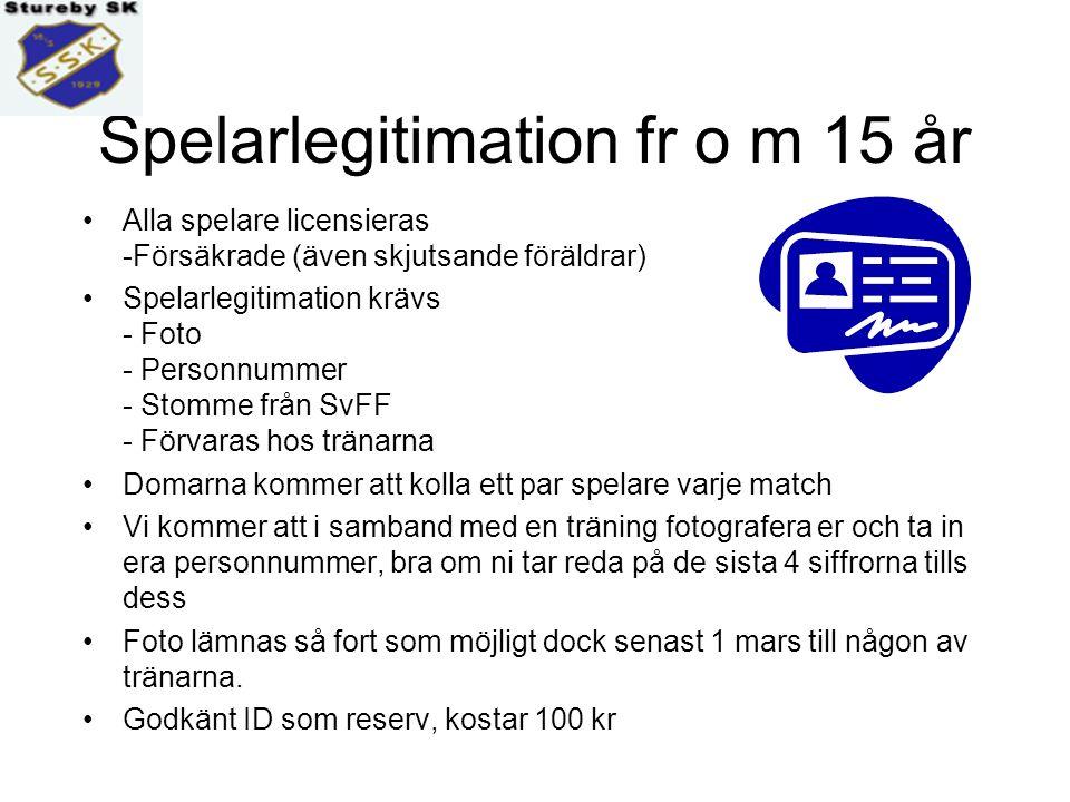 Stureby policy (ungdom 6 - 18 år) EKONOMI Stureby SK svarar för: - Tränarutbildning - Domarkostnader - Avgifter S:t Erikscupen samt ekonomiskt bidrag till en cupturnering per lag och år - Lagförsäkring - Licensavgifter som är obligatoriska från och med 15 år - Matchtröjor - Fotbollar, koner, västar till träning och match Du själv eller laget svarar för: - Kortbyxor, knickers, strumpor, benskydd samt lämpliga skor - Sjukvårdsväska och vattenflaskställ svarar laget för (varje lag har ofta en lagkassa) - Årsavgiften är betald under våren (april-maj)