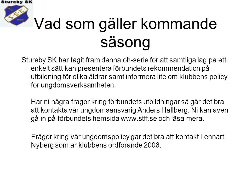 Information inför säsongen 2006 Stureby SK