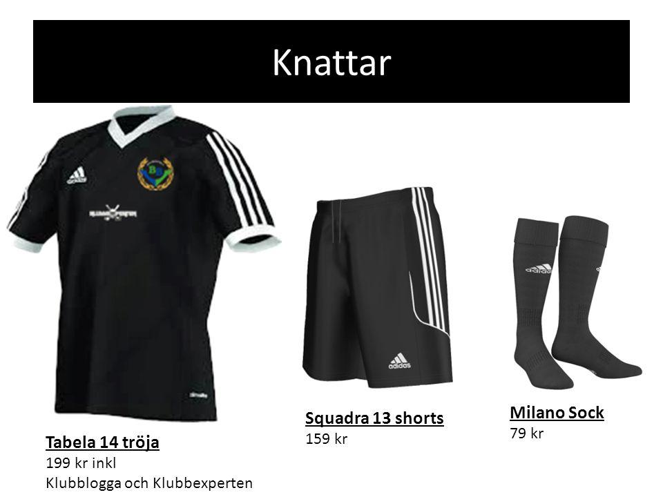 Knattar Squadra 13 shorts 159 kr Milano Sock 79 kr Tabela 14 tröja 199 kr inkl Klubblogga och Klubbexperten