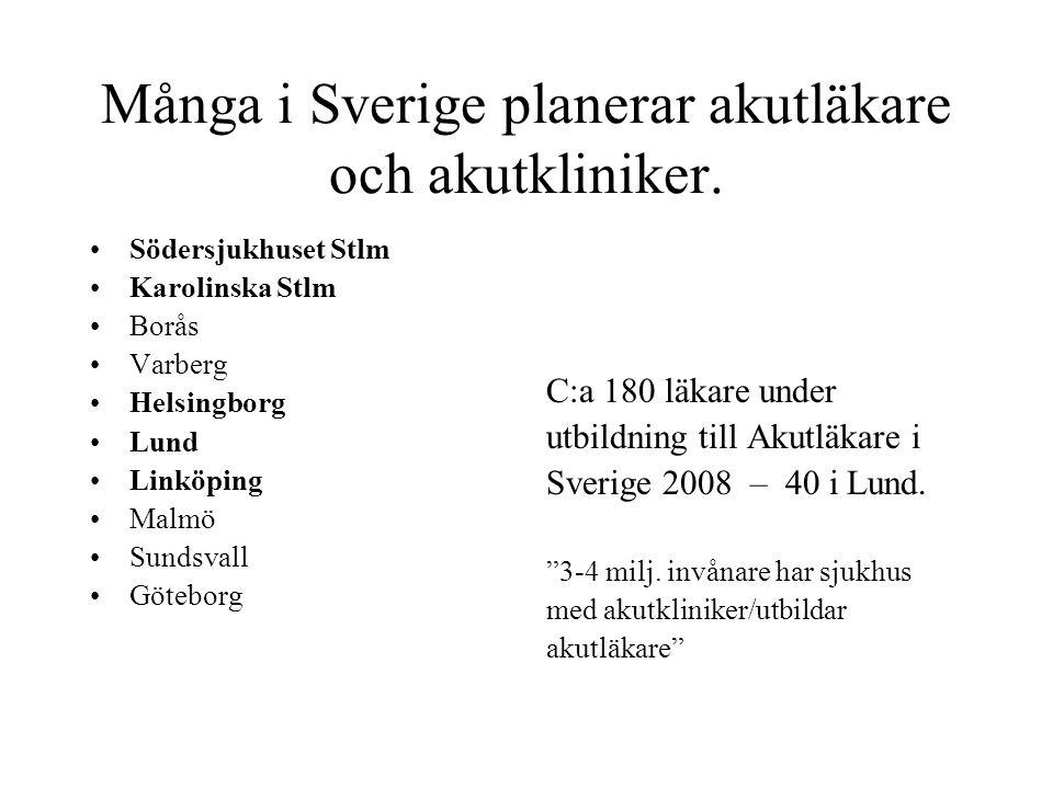 Många i Sverige planerar akutläkare och akutkliniker.