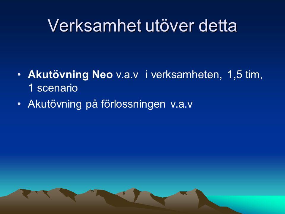 Kompetensbevis=körkort Ska vara uppnått inför jourtjänstgöring läkare Förnyas regelbundet (v 1-3 år) Påbörjat HT 2013, barnläkare.