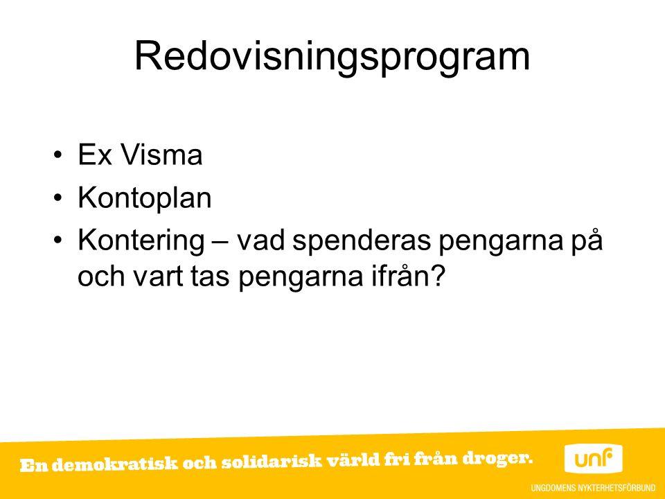 Redovisningsprogram Ex Visma Kontoplan Kontering – vad spenderas pengarna på och vart tas pengarna ifrån