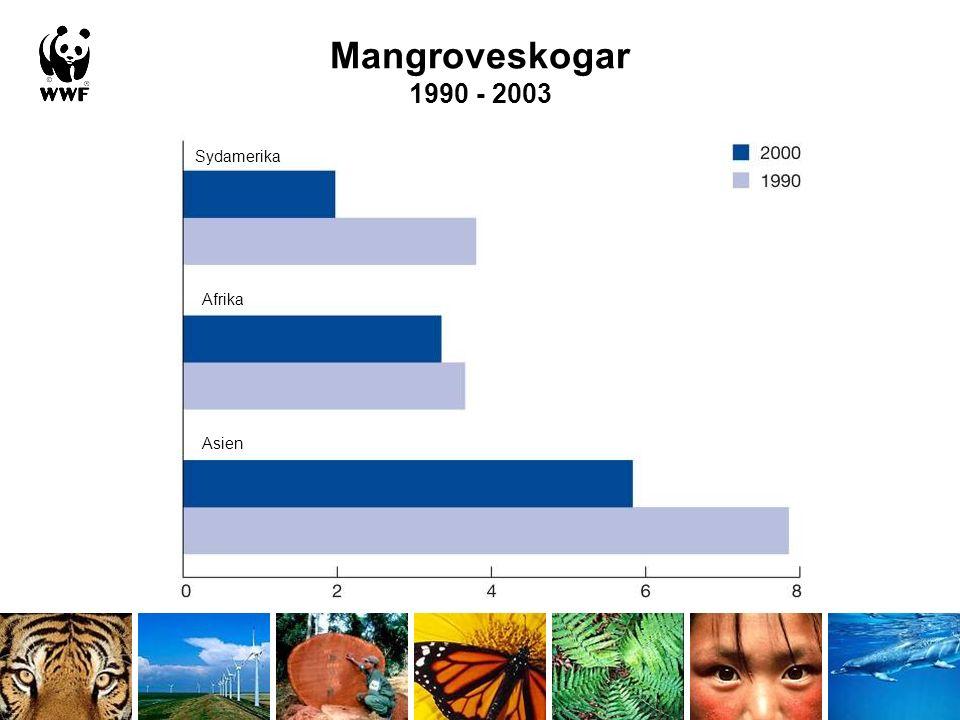 Tempererade och tropiska sötvattenekosystem Living Planet Index, 1970-2003 Sötvattenindex Tempererat Tropiskt Index (1970=1,0)