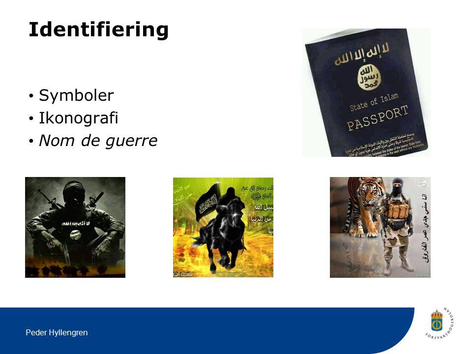 Peder Hyllengren Identifiering Symboler Ikonografi Nom de guerre