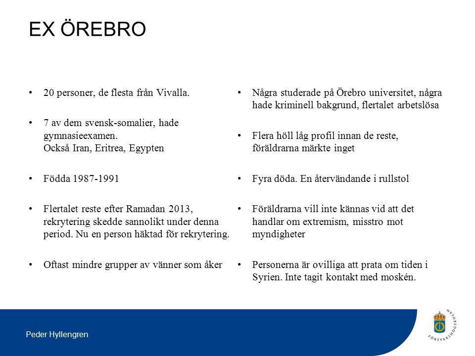Peder Hyllengren EX ÖREBRO 20 personer, de flesta från Vivalla.