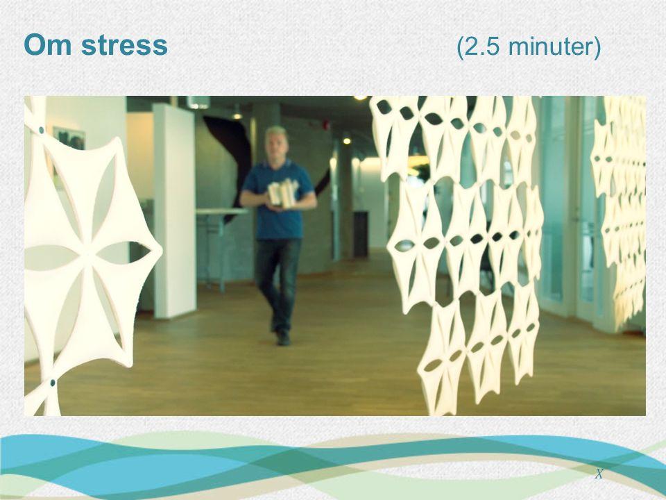 Om stress (5 minuter) X