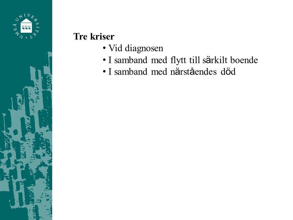 F ö rnekande Ö verinvolverande Ilska Skuld Accepterande (Dhooper 1991)