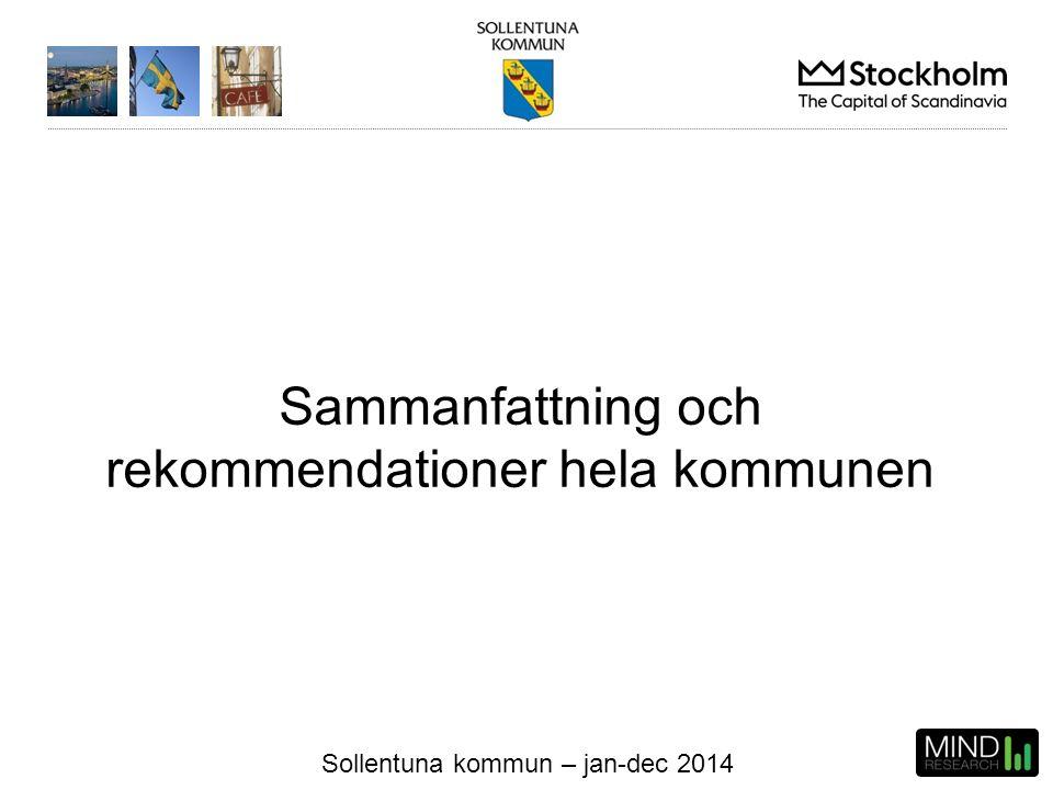 Sollentuna kommun – jan-dec 2014 Sammanfattning och rekommendationer hela kommunen