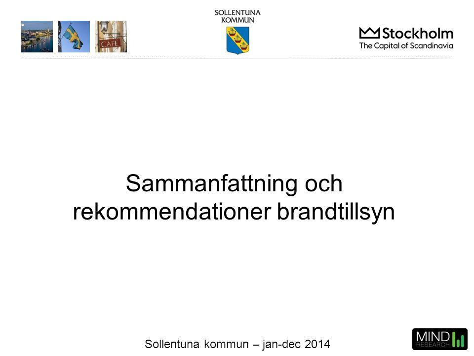 Sollentuna kommun – jan-dec 2014 Sammanfattning och rekommendationer brandtillsyn