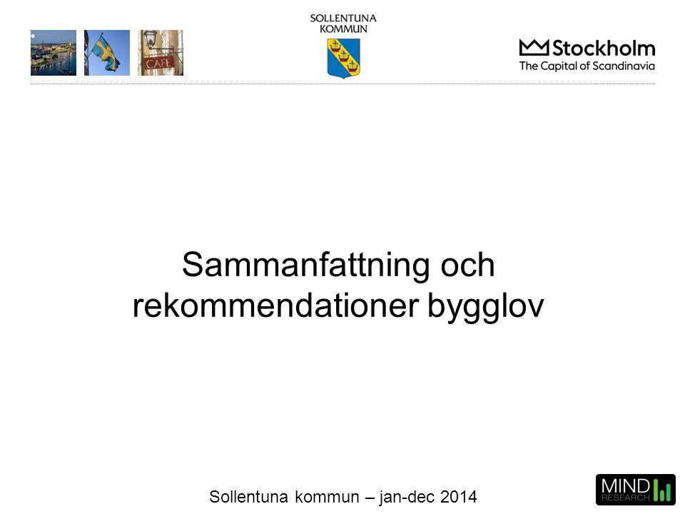Sollentuna kommun – jan-dec 2014 Sammanfattning och rekommendationer bygglov