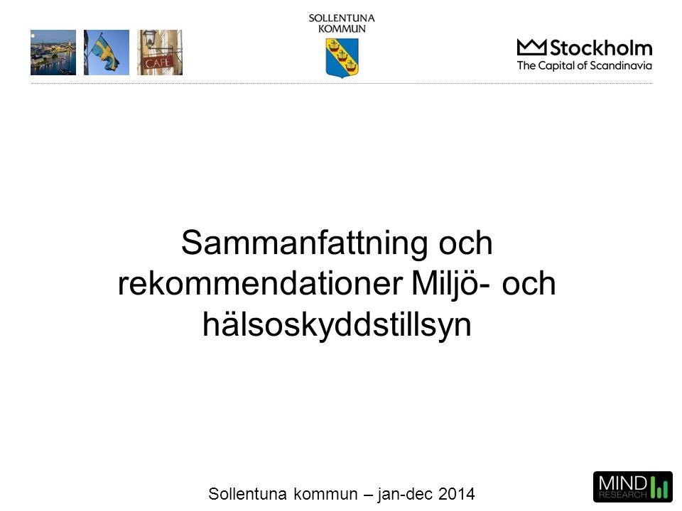 Sollentuna kommun – jan-dec 2014 Sammanfattning och rekommendationer Miljö- och hälsoskyddstillsyn
