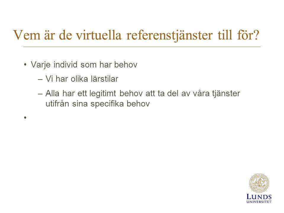 Vem är de virtuella referenstjänster till för.