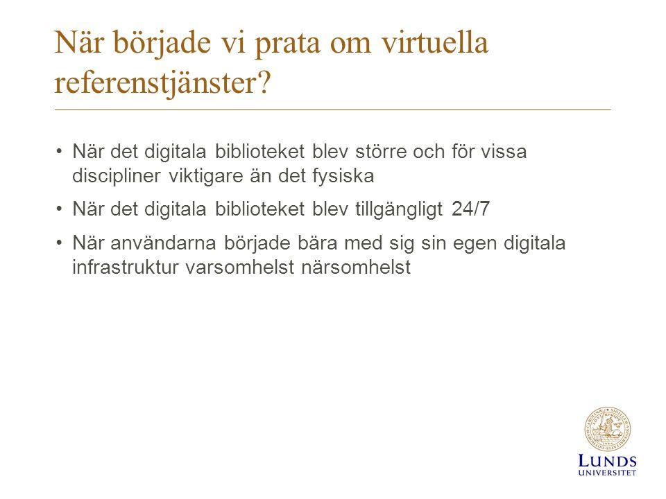 När började vi prata om virtuella referenstjänster.