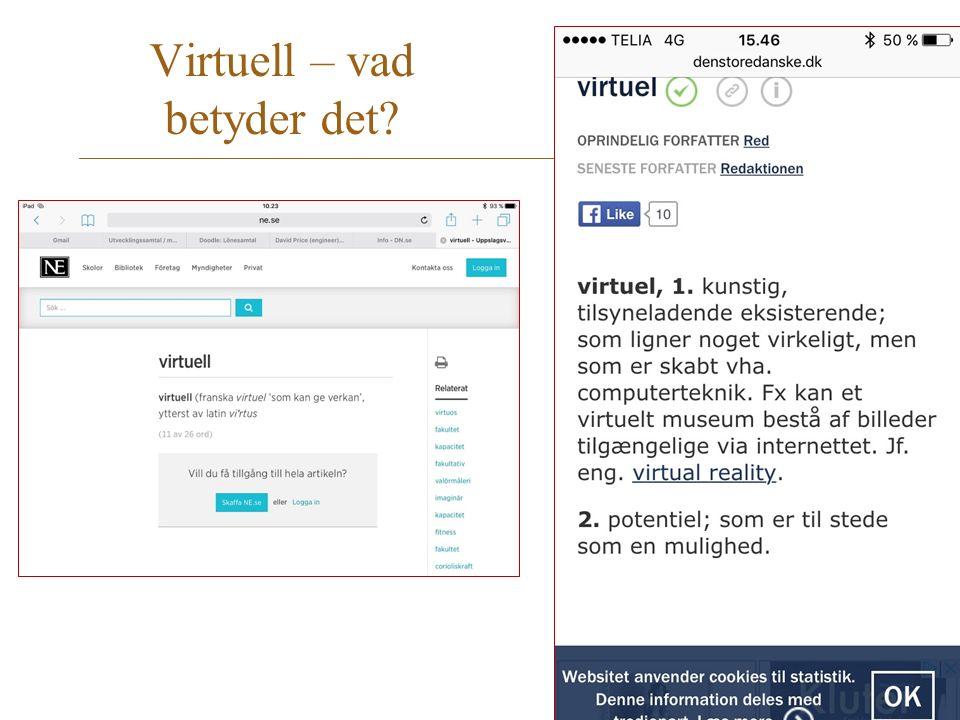 Virtuell – vad betyder det