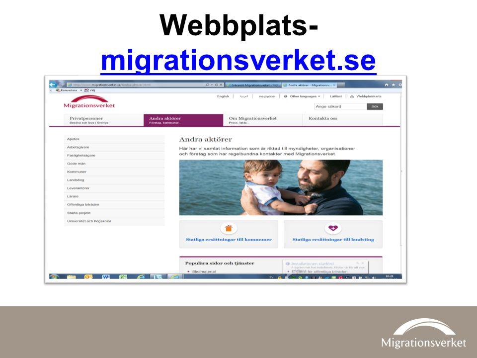 Webbplats- migrationsverket.se migrationsverket.se
