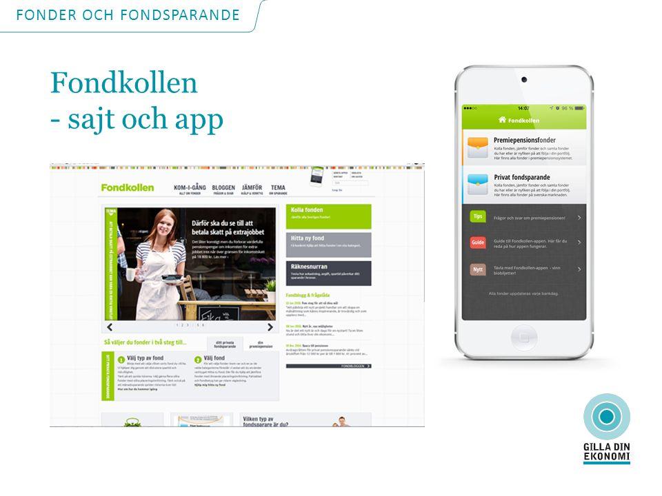 Fondkollen - sajt och app