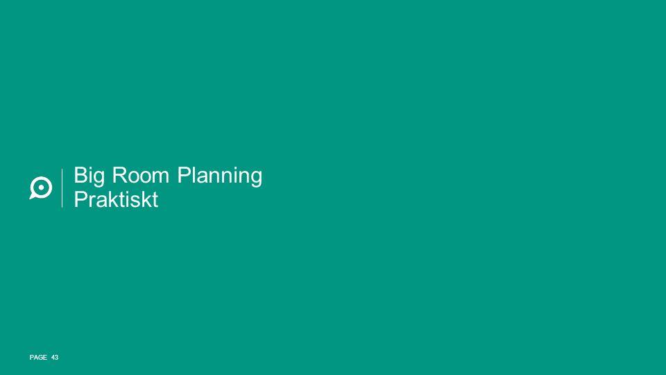 Big Room Planning Praktiskt PAGE 43