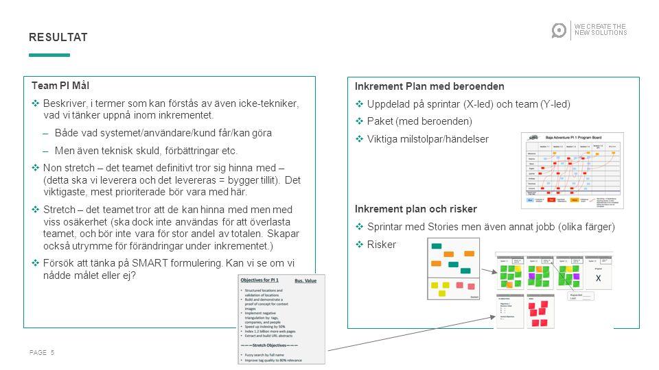 Agenda och Flöde PAGE 6