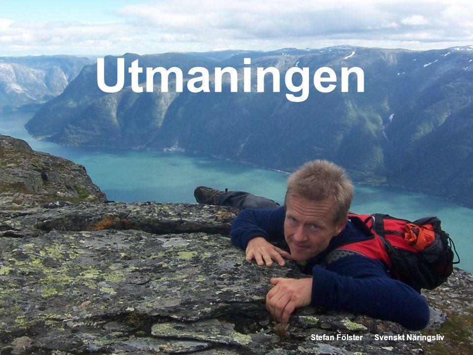 Utmaningen Stefan Fölster Svenskt Näringsliv