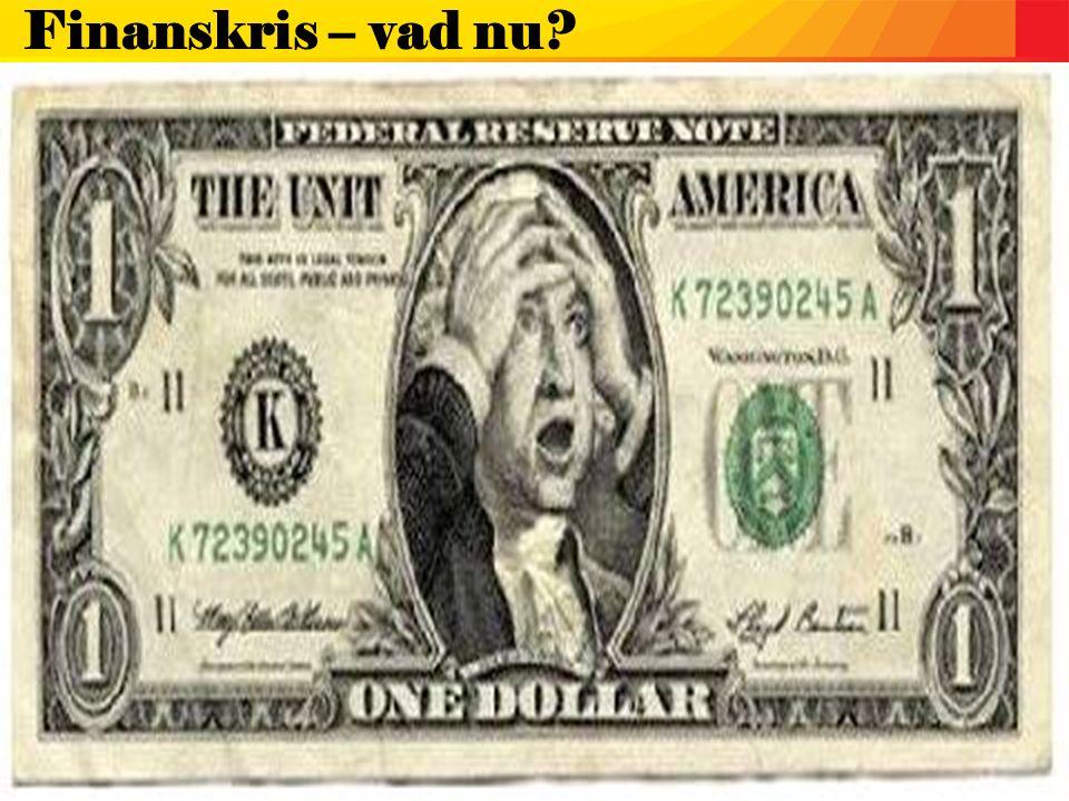 Finanskris – vad nu?