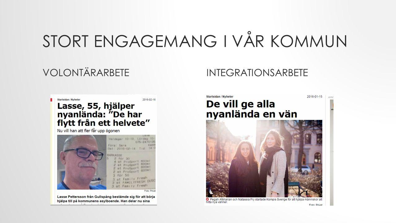 STORT ENGAGEMANG I VÅR KOMMUN VOLONTÄRARBETEINTEGRATIONSARBETE