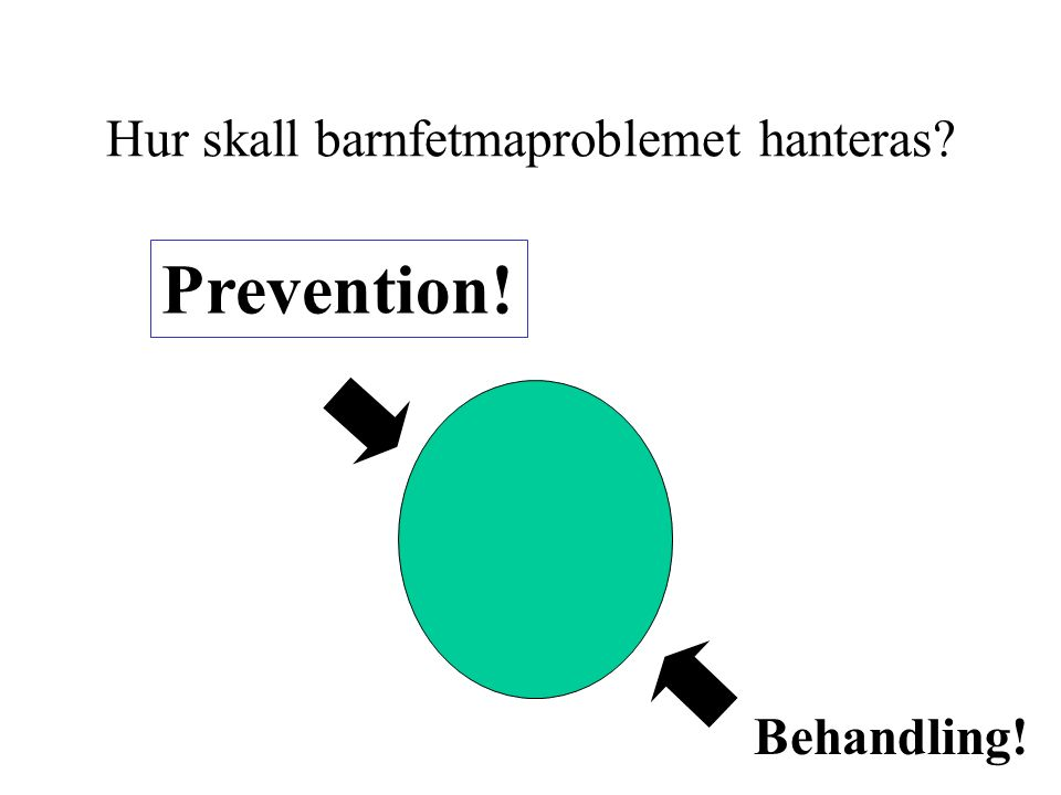 Hur skall barnfetmaproblemet hanteras Prevention! Behandling!