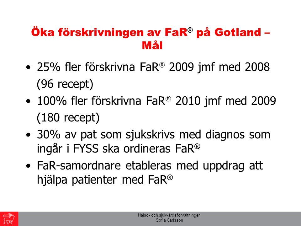 Hälso- och sjukvårdsförvaltningen Sofia Carlsson Energiförbrukning Vid promenad = 20 kJ/minut Vid stillasittande = 5 kJ/minut