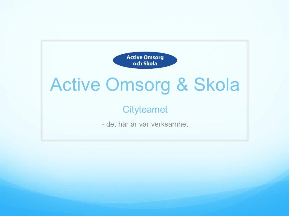 Active Omsorg & Skola Cityteamet - det här är vår verksamhet