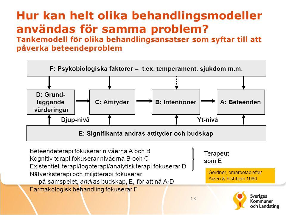 Hur kan helt olika behandlingsmodeller användas för samma problem? Tankemodell för olika behandlingsansatser som syftar till att påverka beteendeprobl
