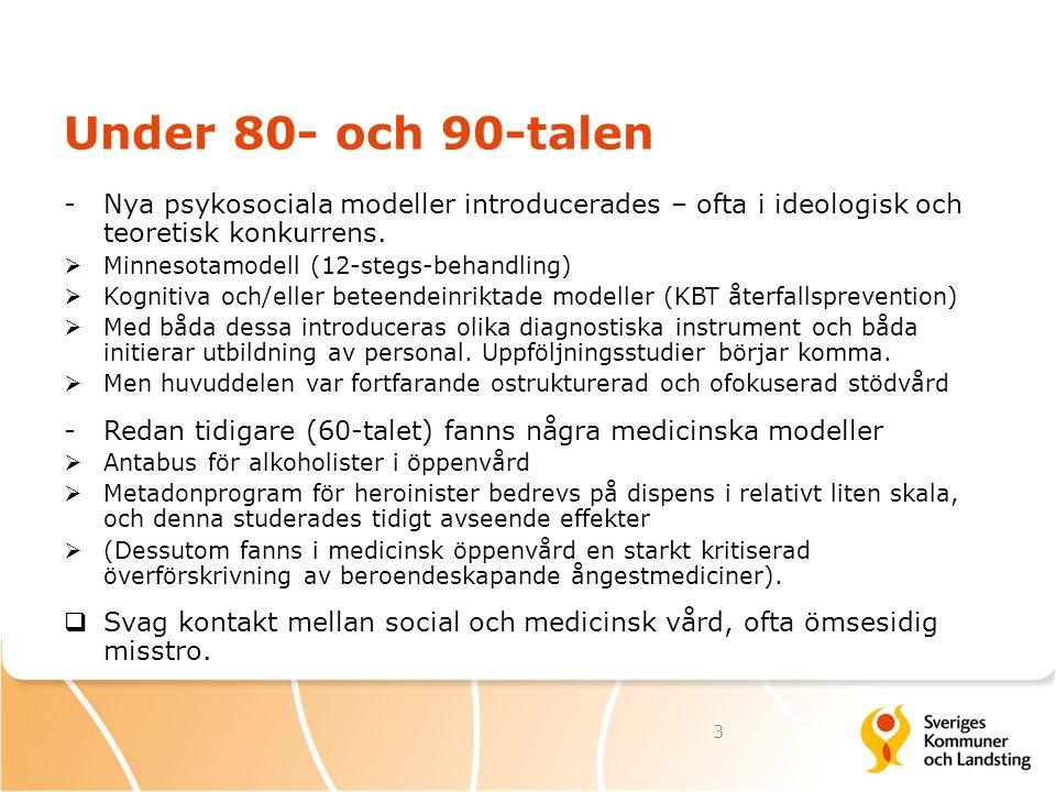SBU, Statens beredning för medicinsk utvärdering, 2001 I början av 2000-talet kom nya stora systematiska översikter av behandlingsforskning Uppdaterad engelsk version: Berglund m.fl.