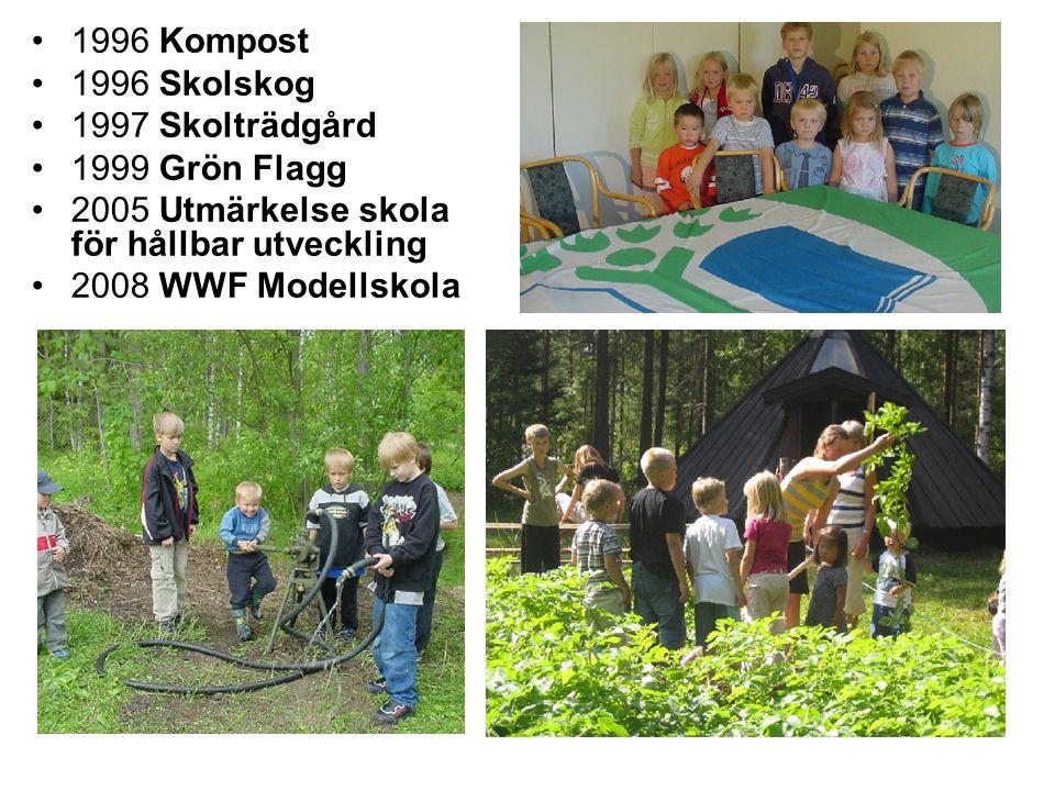1996 Kompost 1996 Skolskog 1997 Skolträdgård 1999 Grön Flagg 2005 Utmärkelse skola för hållbar utveckling 2008 WWF Modellskola
