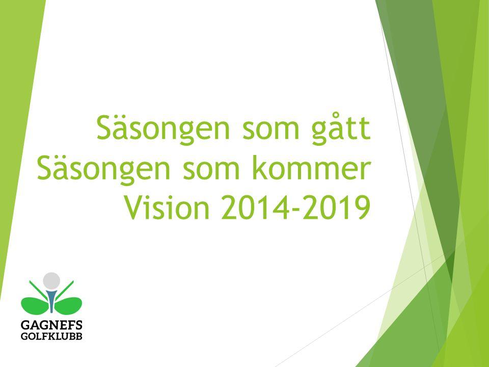 Säsongen som gått Säsongen som kommer Vision 2014-2019