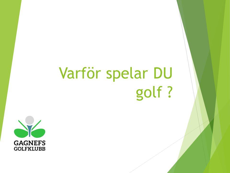 Varför spelar DU golf