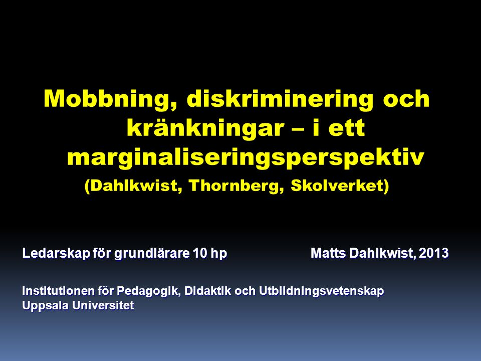 Mobbning – definitioner och tidsbundenhet 1789: mob or a group of people in attacking, harassing, or crowling round a person (Gill 2011).