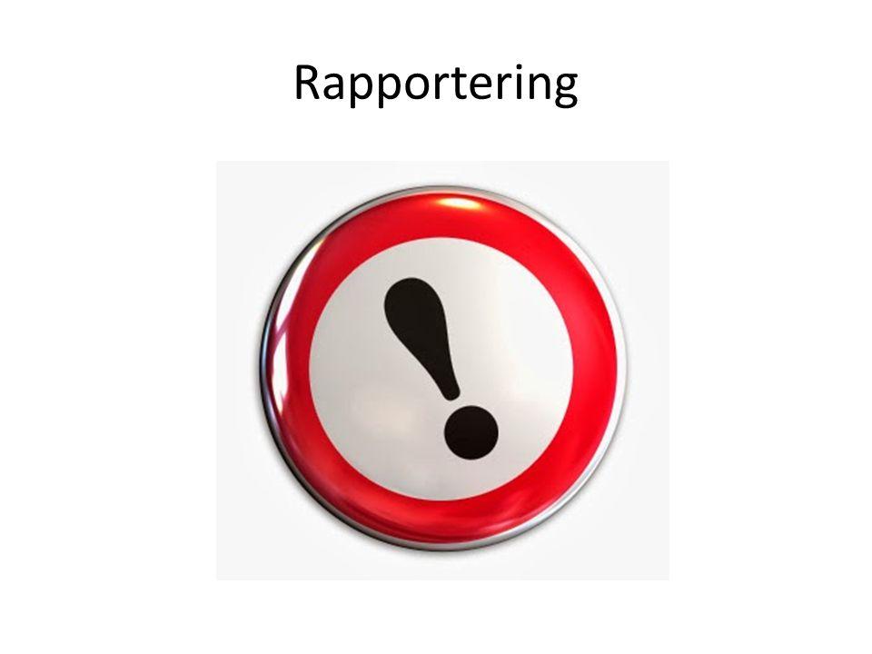Rapportering