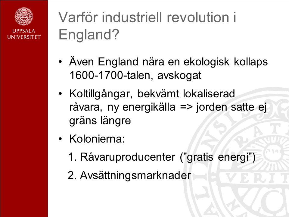 Varför industriell revolution i England.