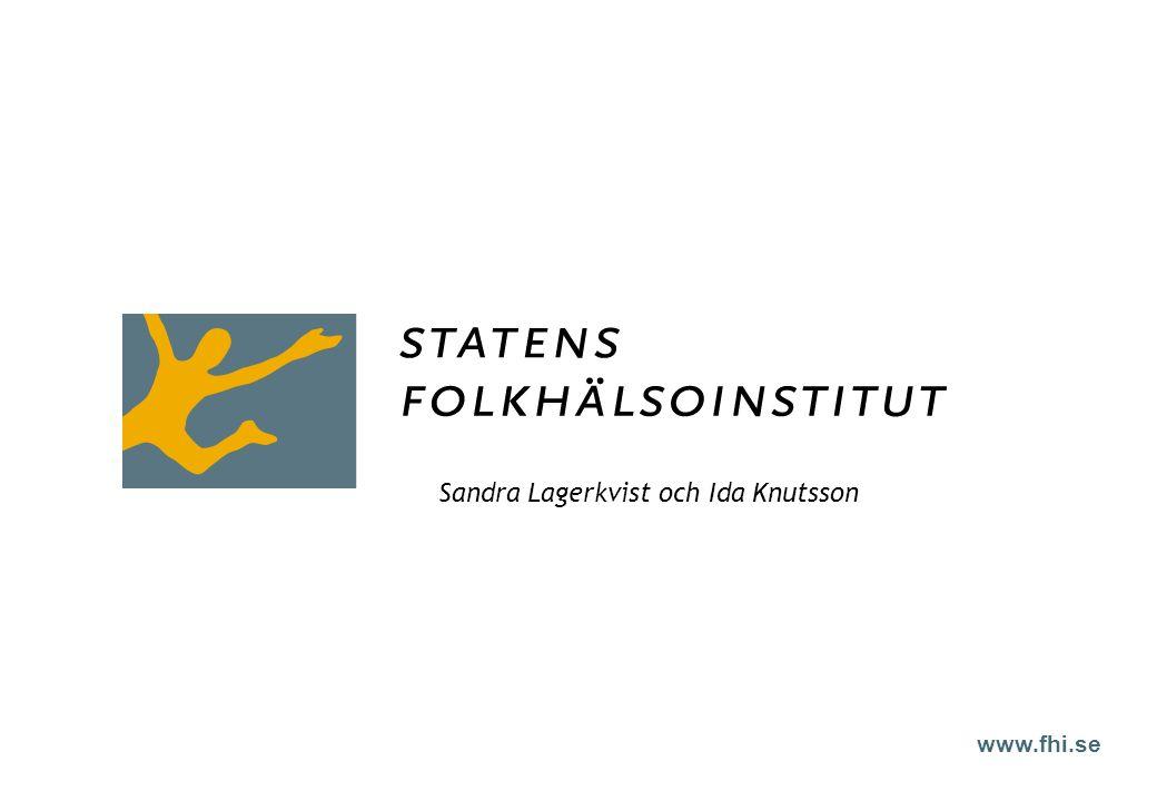 www.fhi.se Sandra Lagerkvist och Ida Knutsson