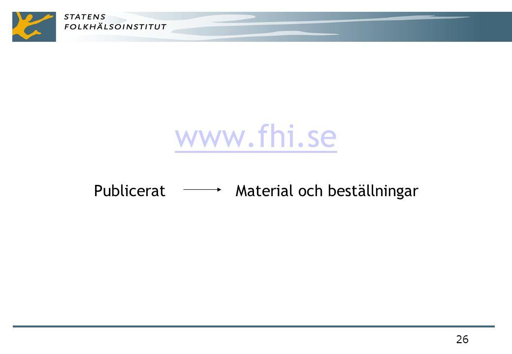 26 www.fhi.se Publicerat Material och beställningar