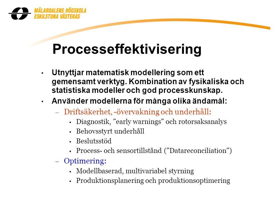 Processeffektivisering Utnyttjar matematisk modellering som ett gemensamt verktyg.