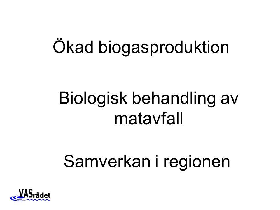 Biologisk behandling av matavfall Ökad biogasproduktion Samverkan i regionen