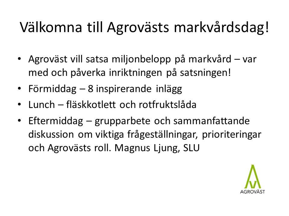 Välkomna till Agrovästs markvårdsdag.