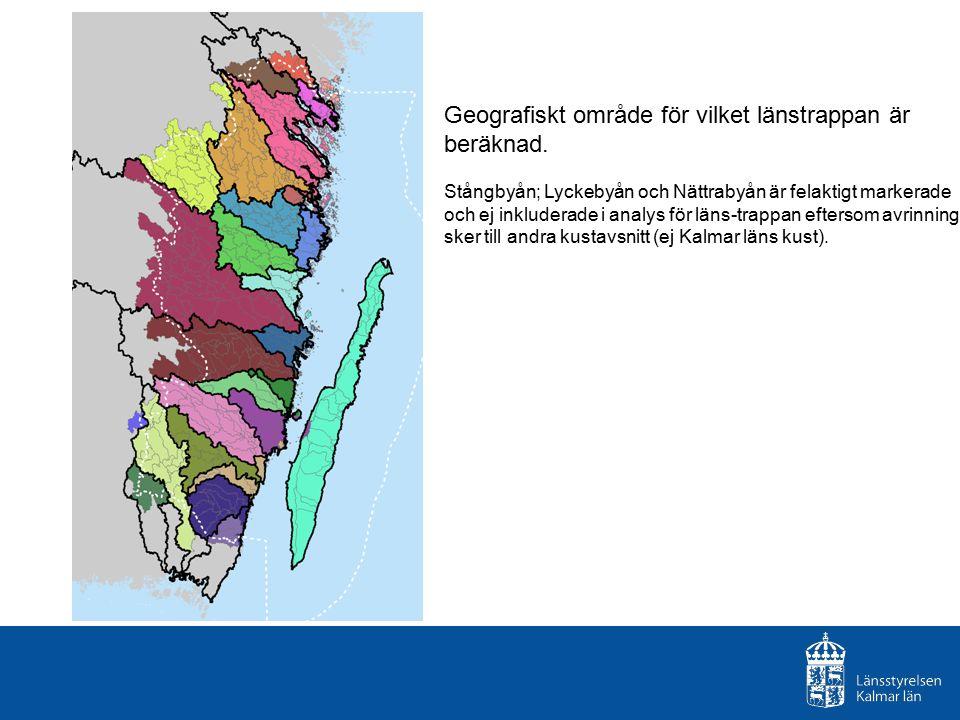 Geografiskt område för vilket länstrappan är beräknad.