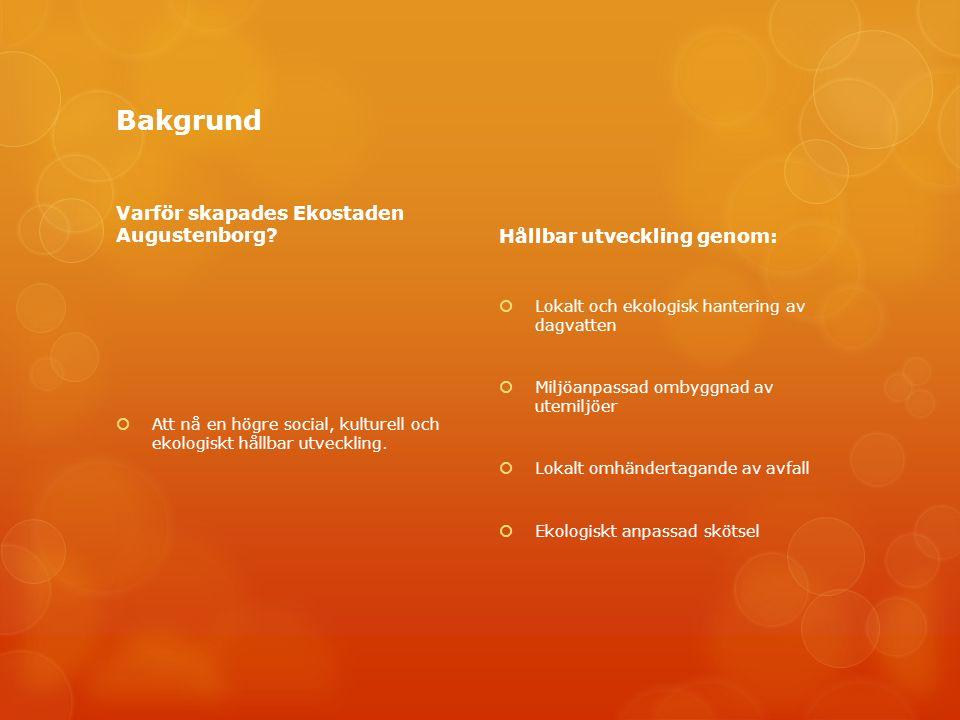 Bakgrund Varför skapades Ekostaden Augustenborg.