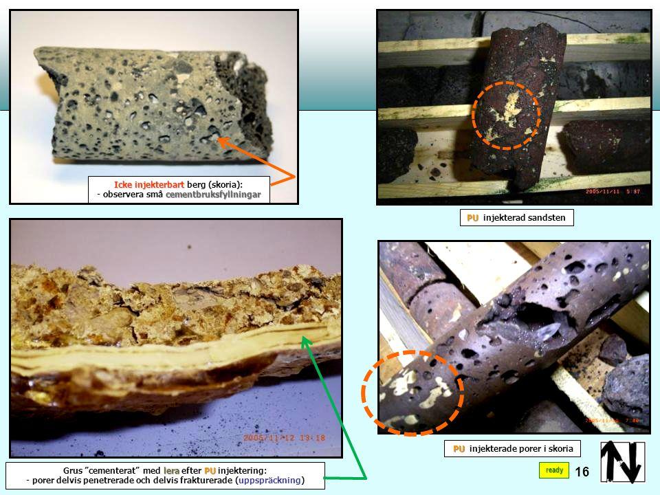 Breda förkastningar fyllda med lera lera cementerad morän Kárahnjúkar Headrace Tunnel Vatten:+1°C÷+65°C 17 ready