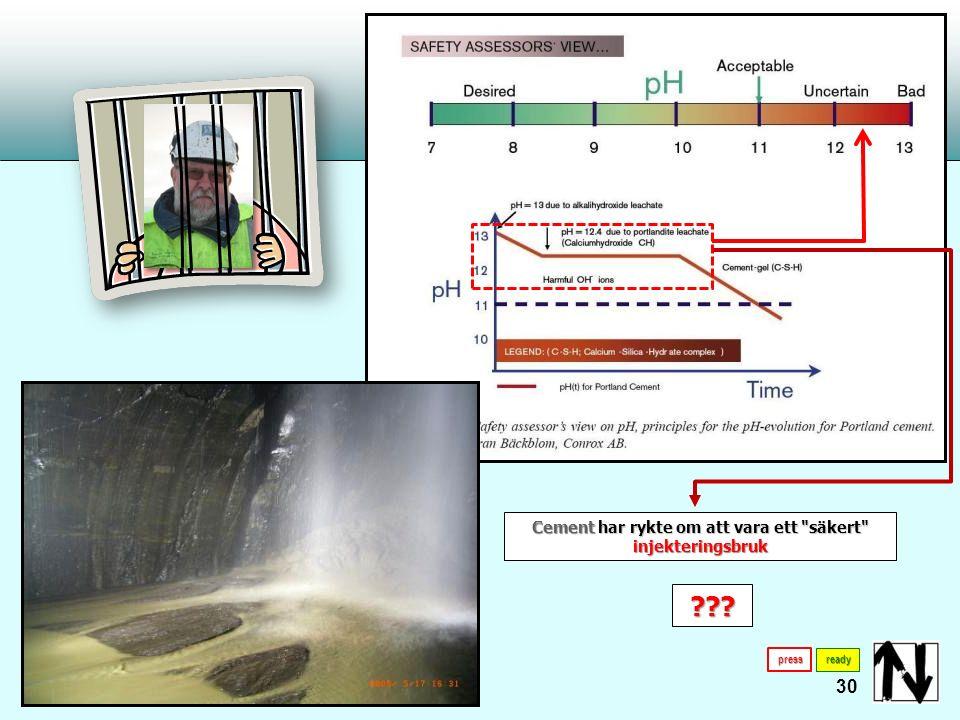 31 Endast polyuretanresiner testade för kemisk stabilitet, biologisk nedbrytning, i dricksvatten och dess miljöinverkan får användas ready